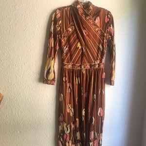 VINTAGE WRAP MAXI DRESS